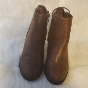 Candie's Laced Back Brown Booties.